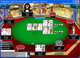 Il tavolo del famoso FullTilt Poker