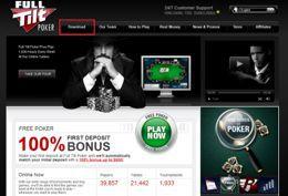 La home page di Full Tilt Poker