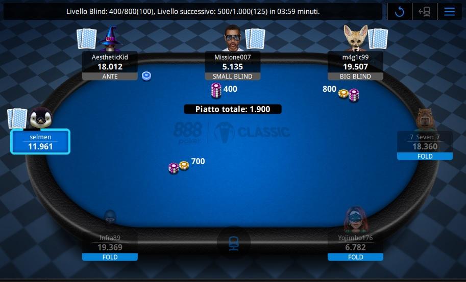Tavolo da gioco 888poker